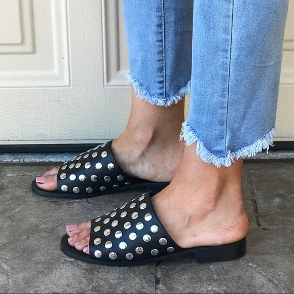 302b675aa786 Lola Flatform Studded Mule Sandal